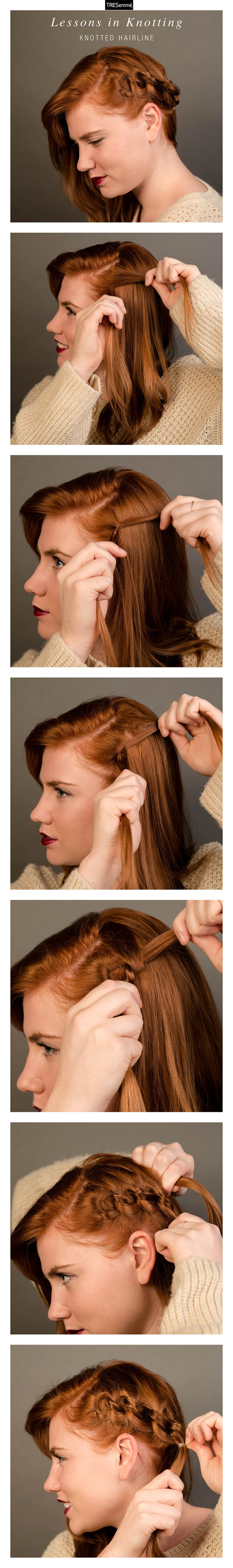 Lessons in Knotting: Can't grasp the hairline braid? That's ok! Try this knotting technique to embellish your hairstyle.