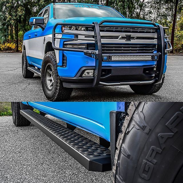 Any Chevy Fans Sportsman X Grille Guard Coming Soon Grate Steps Running Boards Transform Your Truck Or Jeep On