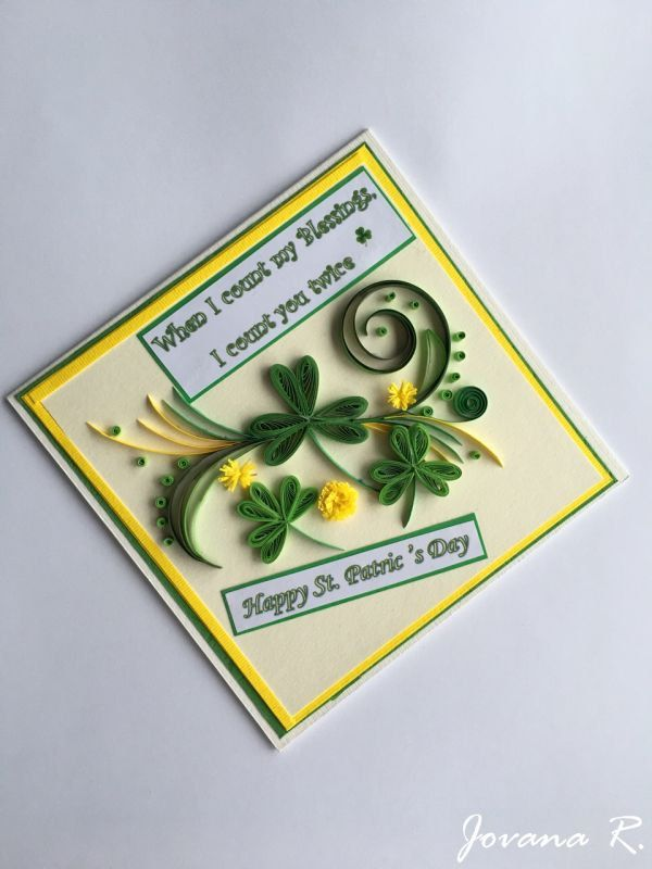 St. Patric's greeting card, St. Patric's quilling card, Happy St. Patric's day by PaperMagicByJR on Etsy