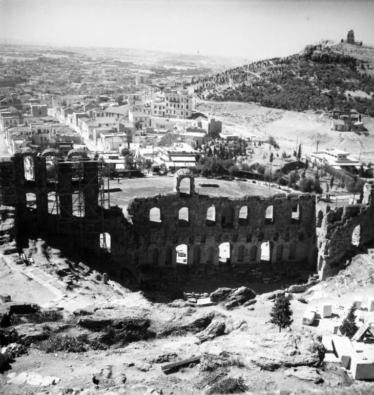 Athens, Greece. August 31, 1935. South East from the Acropolis. Photographer Pendleton, Robert Larimore, 1890-1957. American Geographical Society Library, University of Wisconsin-Milwaukee Libraries