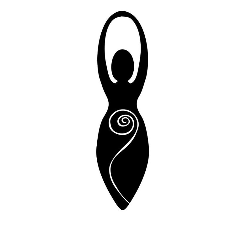 Spiral Goddess Decal. A timeless and fertile symbol of the sacred feminine with deep meaning for pagans of many paths.