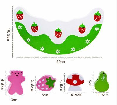精品仿真蛋糕水果平衡积木 JF33 平衡架叠叠乐 儿童早教益智玩具