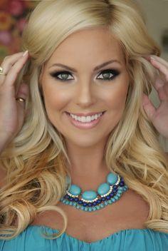 wedding makeup blonde hair blue eyes - Google Search