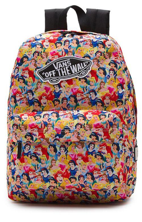 d272ca6f6b64 Vans Womens, Disney Backpack - Multi Princess | School supplies | Sac a dos  disney, Sac, Sac à Main