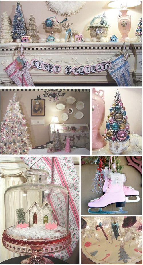 Wonderful Christmas Collage. Pink Christmas DecorationsChristmas Decorating  IdeasHoliday ... Nice Design