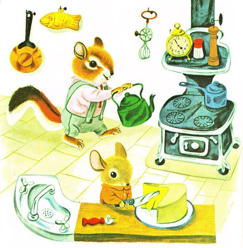 Richard Scarry ~ mom would read from the big book every night before bedtime