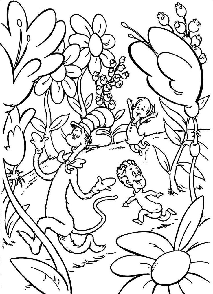 dr seuss hat coloring page 100 images transmissionpress cat in