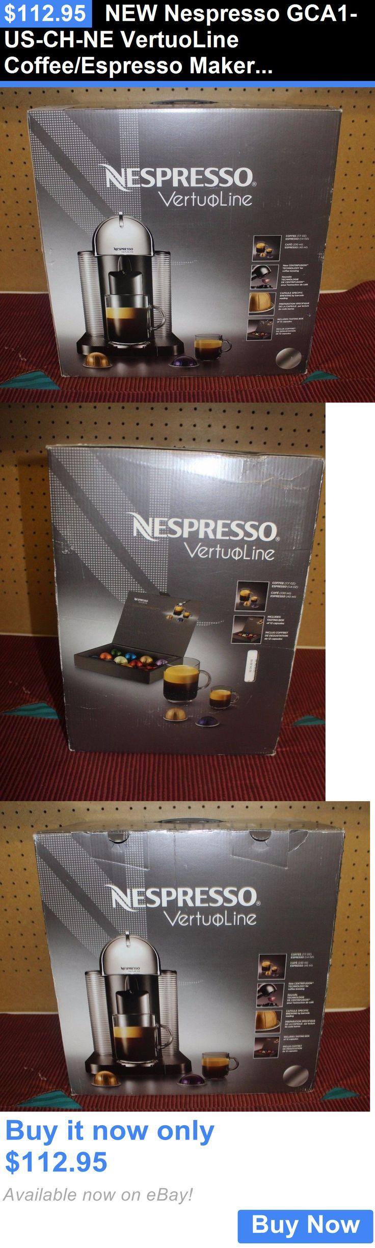 Small Kitchen Appliances: New Nespresso Gca1-Us-Ch-Ne Vertuoline Coffee/Espresso Maker Free Shipping BUY IT NOW ONLY: $112.95