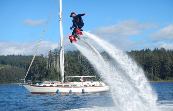 Flyboard of Bend at Lake Billy Chinook; Central Oregon