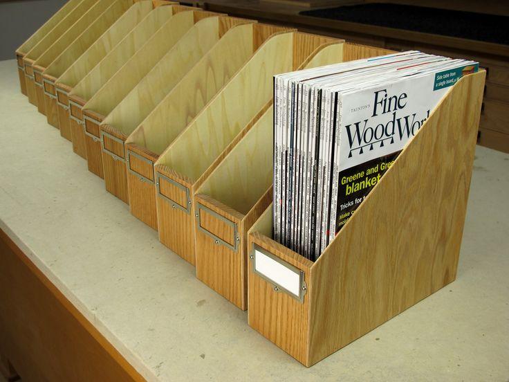 Make Your Own Magazine Storage Box - Woodworking Gift Ideas