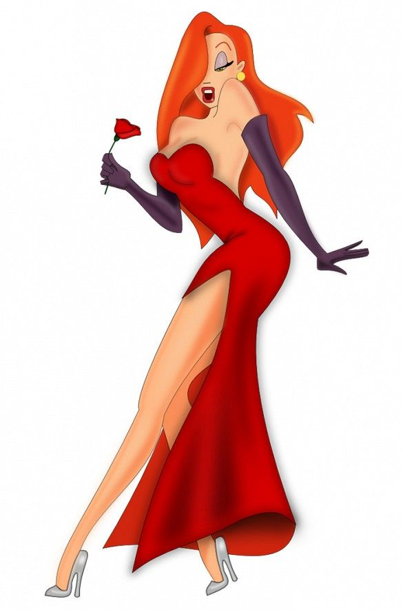 Pair a red dress with purple gloves and false lashes for a Jessica Rabbit Halloween costume.