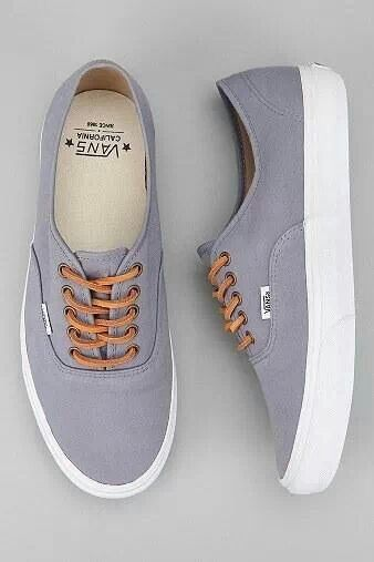 grey and brown vans