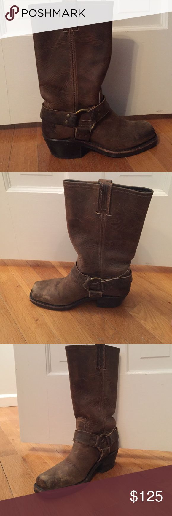 Authentic Frye Harness 12R boot in brown Frye Harness 12R boots in brown Frye Shoes Ankle Boots & Booties