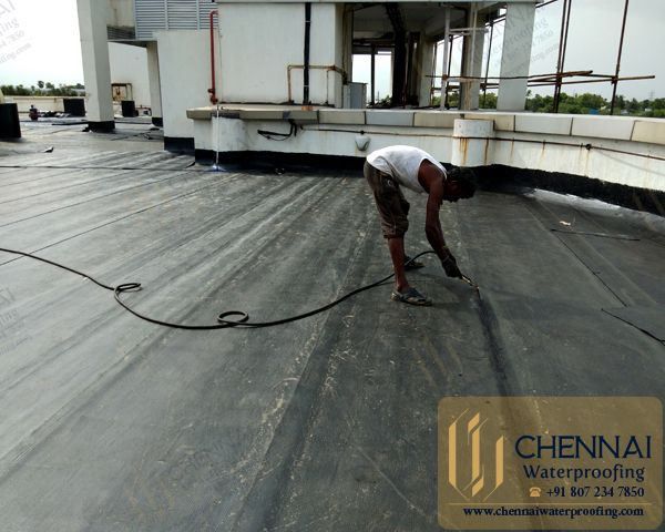 Building Terrace Waterproofing Terrace Bitumen Waterproofing Mahindra City Chengalpattu Terrace Building City