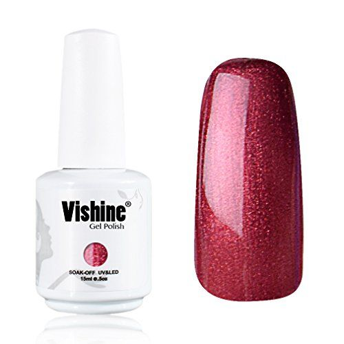 Vishine Gelpolish Lacquer Shiny Color Soak Off UV LED Gel Nail Polish Professional Manicure Pearl Rose Red1523 *** Want additional info? Click on the image.