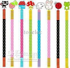 Wholesale Christmas Gifts - Buy Novelty Back to School- Cartoon Colorful Kids Animal Wooden Pencil with Springs Christmas Gifts, $0.26 | DHgate