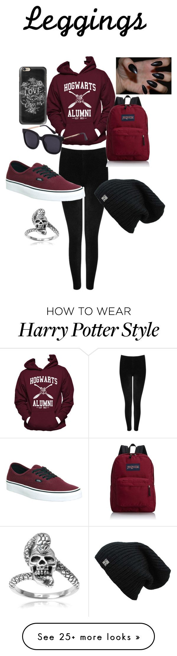 """""""Untitled #68"""" by anisabel60 on Polyvore featuring Hanes, M&Co, Vans, JanSport, Tressa, Casetify, Leggings and WardrobeStaples"""