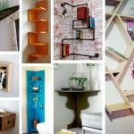 Clever corner solutions by recycling an old door.