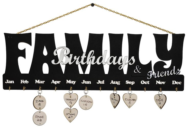 Family perpetual calendar. Discs are sold separately so one can purchase as many as one has friends.