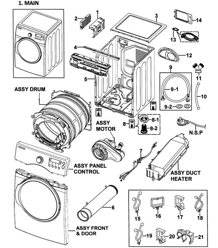 Wire Diagram For Samsung Dryer Model, Samsung Dryer Wiring Diagram