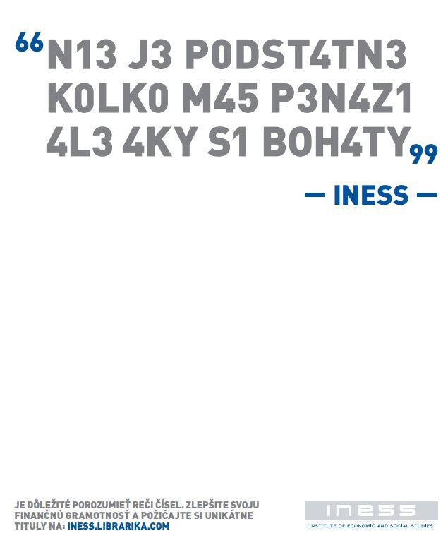 Je dôležité porozumieť reči čísel. Zlepšite svoju finančnú gramotnosť a požičajte si unikátne tituly na: iness.librarika.com