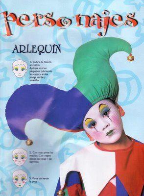 Como realizar un maquillaje de arlequin