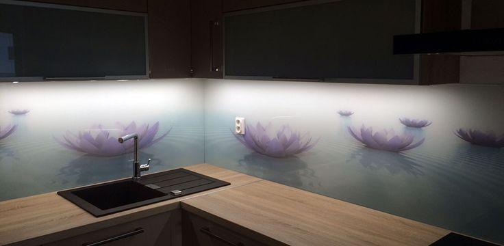 Sklo do kuchyne - sklenená zástena - Stupava
