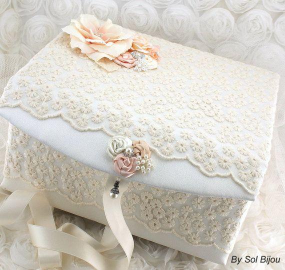 Bridal Keepsake Box Wedding Keepsake Box in Ivory by SolBijou, $160.00