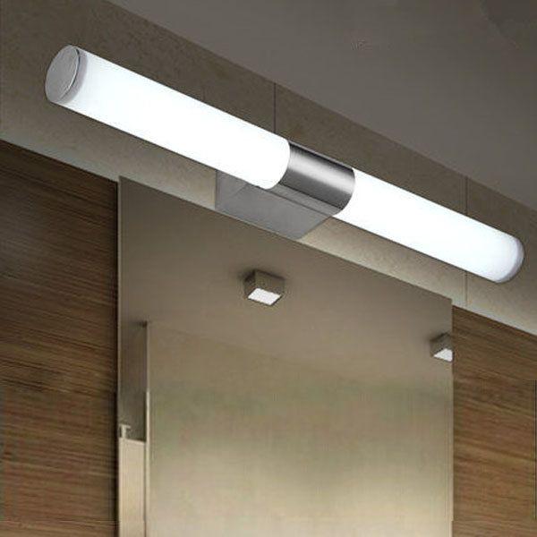bathroom mirror lighting fixtures. 10w brief tube stainless steel led wall light bathroom mirror lamp lighting fixtures