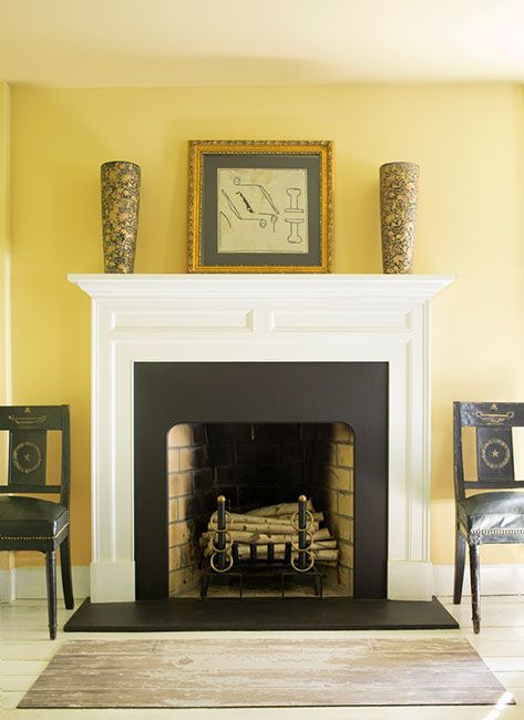 Wall Color: Hawthorne Yellow   Mantle Color: Monterey White. Yellow Dining  RoomPaint ChipsPaint ... Part 64