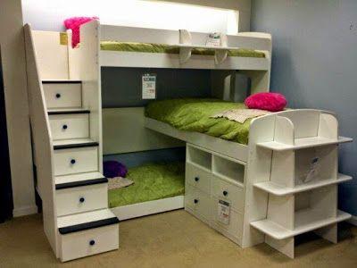 Solutions:petites chambres pour 3 enfants                                                                                                                                                                                 Plus