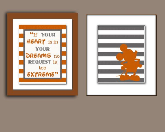 Disney Nursery Art INSTANT DOWNLOAD Mickey and  by maudedesigns, $8.50