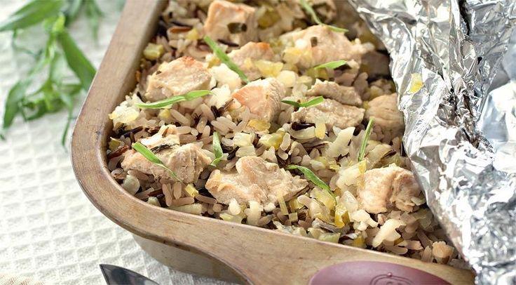 Филе индейки с диким рисом и тархуном