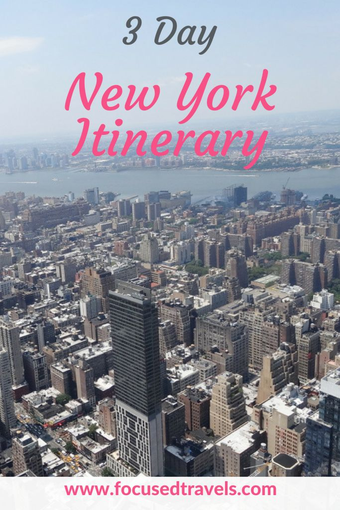 A 3 day New York itinerary