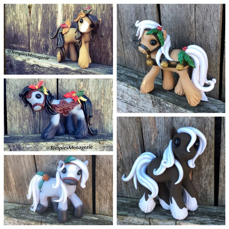 Deposit Only Custom Made Horse / Unicorn / Pony inspired Polymer Clay Christmas Ornament or Figurine DEPOSIT ONLY (10.00 USD) by TempiesMenagerie