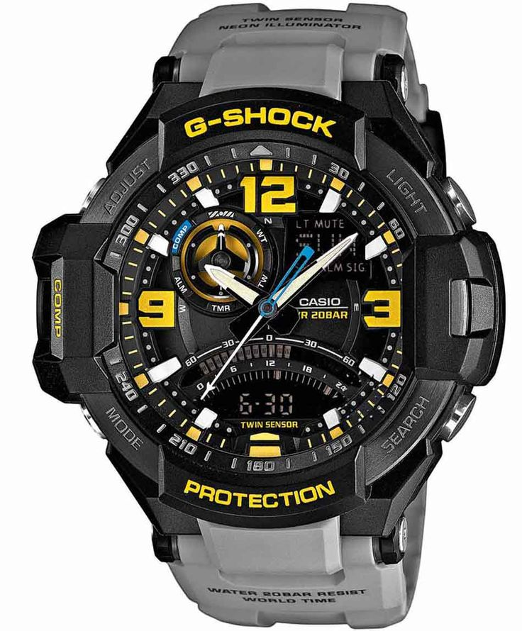 CASIO G-Shock Anadigi Grey Rubber Strap Η τιμή μας: 311€ http://www.oroloi.gr/product_info.php?products_id=36493