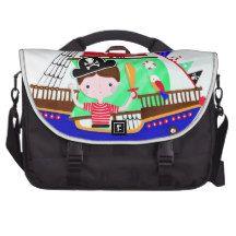Little pirate boy laptop computer bag