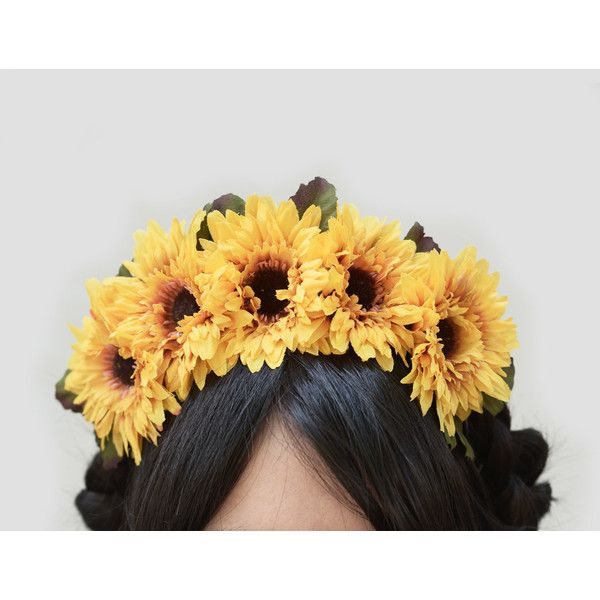 Sunflower Headband Day of Dead Sunflower Headpiece Sunflower Headband... ($36) ❤ liked on Polyvore featuring accessories, hair accessories, grey, headbands & turbans, leaf headband, head wrap headband, metal crown, headband turban and leaf hair accessories