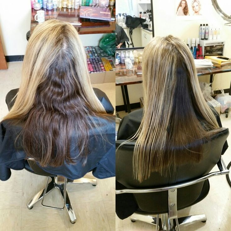 Smooth hair after keratin treatment