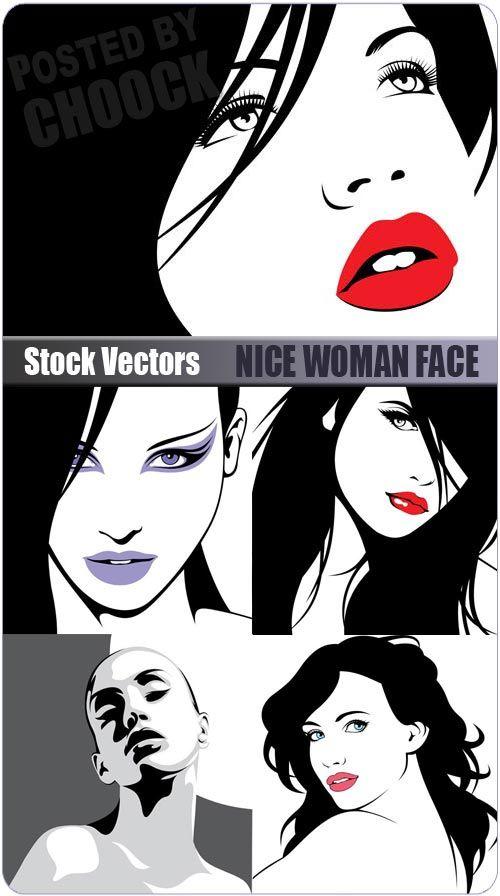 Красивое женское лицо   Nice woman face