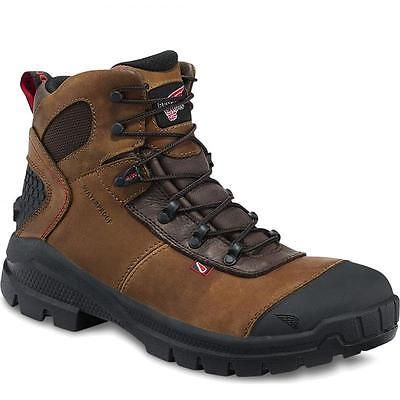 NEW MENS RED WING SAFETY WORK BOOT 436 WATERPROOF ELECTRICAL HAZARD 10 BOOTS