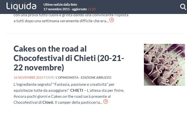 Su liquida Cakes on the road al Chocofestoval di Chieti