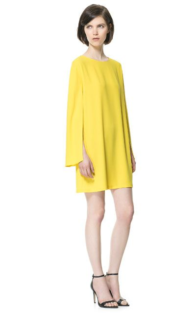 Zara - DRESS WITH CAPE SLEEVE - love the idea of this for an upcoming English summer wedding!