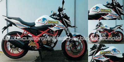 Honda New CB150R White - Sonic Custom Stripe Stick...