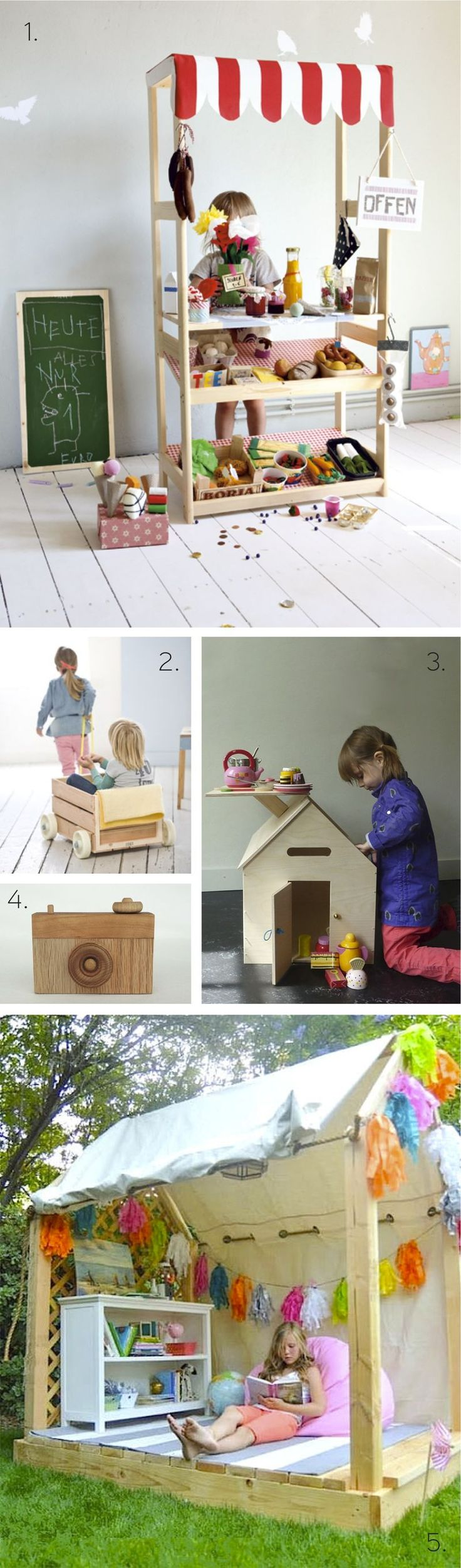 DIY Wooden Projects for Kids - http://habitatkid.typepad.com/blog/2013/08/create-5-diy-wooden-projects.html