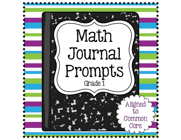 Math Journal Prompts- Over 100 pages of First Grade Math Journal Prompts that are aligned to the Common Core