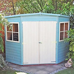 Corner Garden Sheds 8x8 perfect corner garden sheds 8x8 treated shiplap shed in decorating