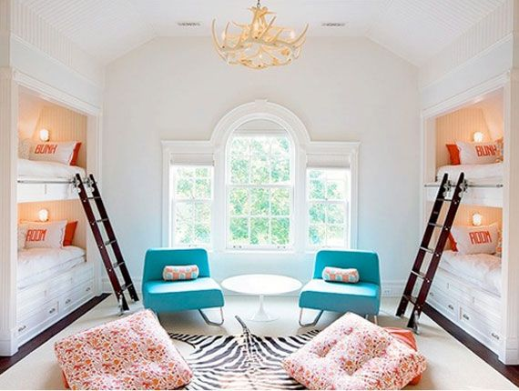 Beautiful colours for a girl and boys room