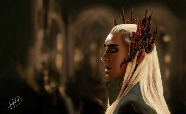 Ilustration of thranduil - The hobbit  / finished  Photoshop