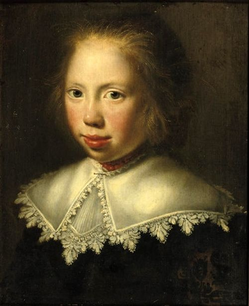 Paulus Moreelse (1571 – 1638, Dutch), Portrait Of A Girl In A Dark Costume And A White Collar With A Coral Necklace